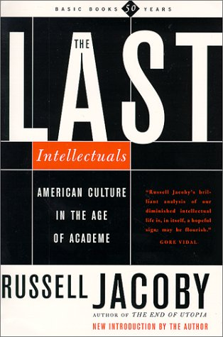 The cover of The Last Intellectuals