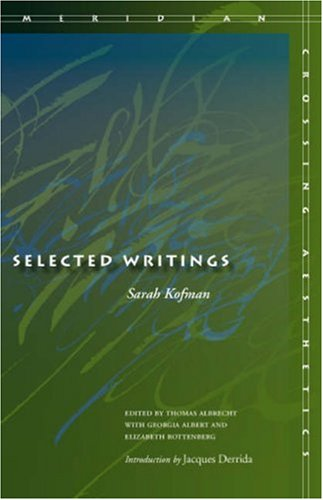 The cover of Selected Writings (Meridian: Crossing Aesthetics)