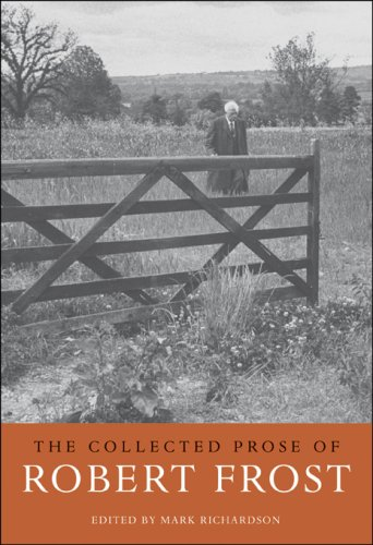 The cover of The Collected Prose of Robert Frost