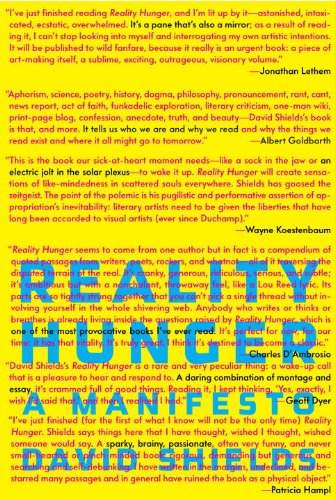 The cover of Reality Hunger: A Manifesto