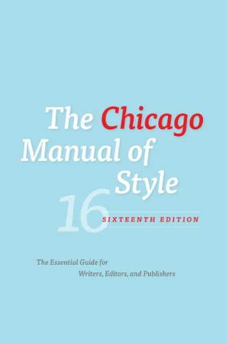 The cover of The Chicago Manual of Style, 16th Edition