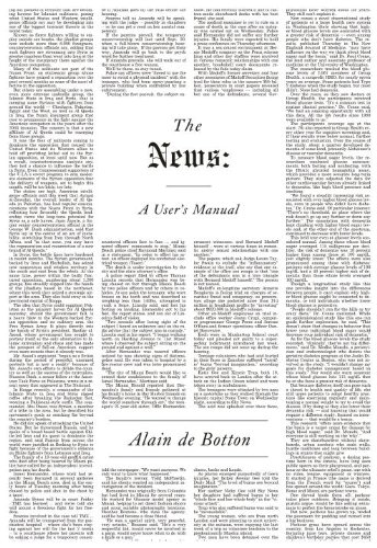 The cover of The News: A User's Manual