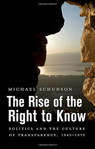 The cover of The Rise of the Right to Know: Politics and the Culture of Transparency, 1945-1975