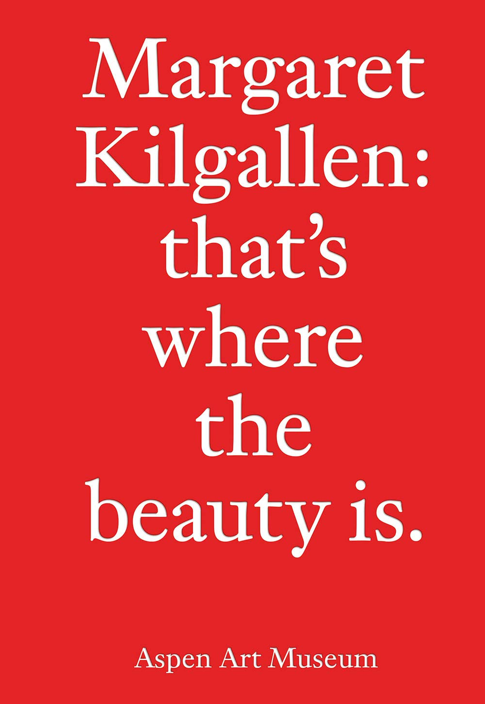 The cover of Margaret Kilgallen: that's where the beauty is.