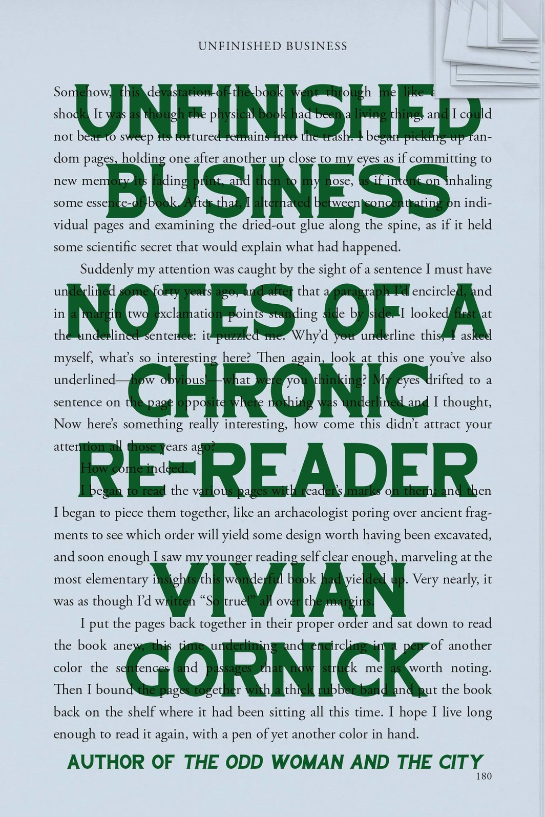 The cover of Unfinished Business: Notes of a Chronic Re-reader
