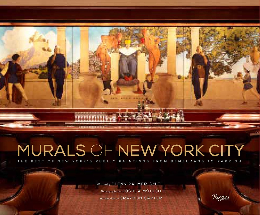 The cover of MURALS OF NEW YORK CITY: THE BEST OF NEW YORK'S PUBLIC PAINTINGS FROM BEMELMANS TO PARRISH