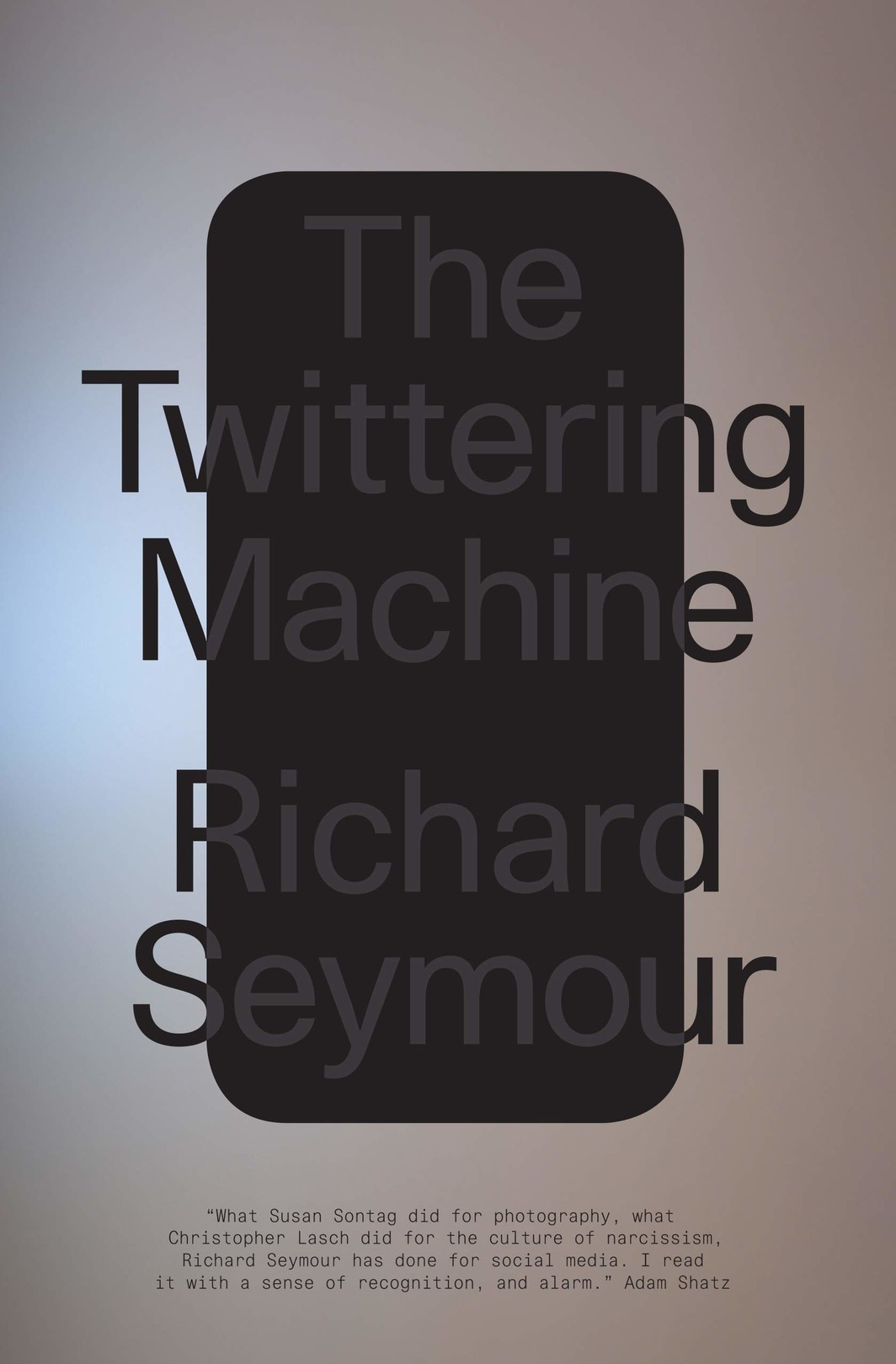 The cover of The Twittering Machine