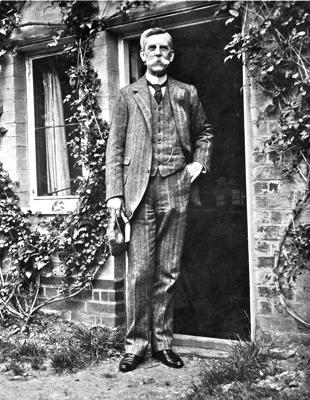 Oliver Wendell Holmes during a visit to the United Kingdom, ca. 1890.