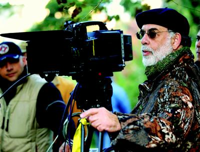 Director Francis Ford Coppola on the set of Youth Without Youth, 2007