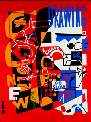 Stuart Davis, Combination Concrete #2, 1956–58, oil on canvas.
