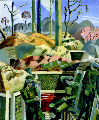 Paul Nash, Spring in the Trenches, Ridge Wood, 1917, 1918, oil on canvas.