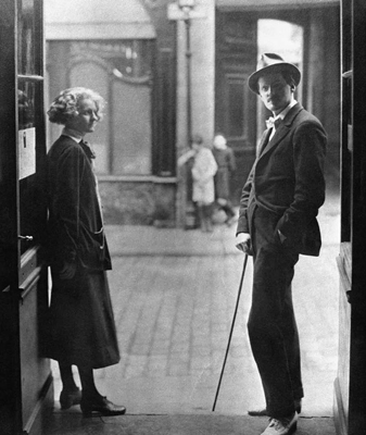 Sylvia Beach and James Joyce, Paris, ca. 1925.
