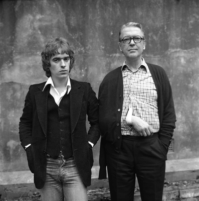 Martin and Kingsley Amis in the late '70s.