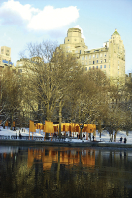 Christo and Jeanne-Claude, The Gates, 1979–2005, Central Park, New York, 2005.
