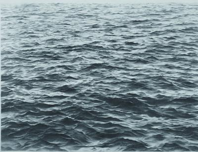 Vija Celmins, Untitled (Big Sea #1), 1969, graphite and acrylic on paper.