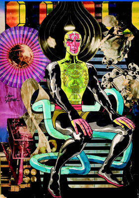 Jack Kirby's presentation collage of Metron, 1969.