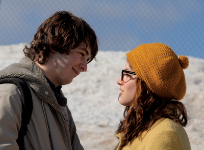 Michael Angarano as Arthur Parkinson and Olivia Thirlby as Lila Raybern in Snow Angels, directed by David Gordon Green, 2008