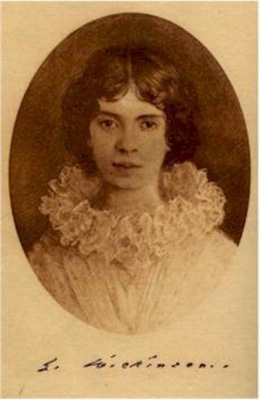 Retouched photograph of Emily Dickinson, ca. 1897