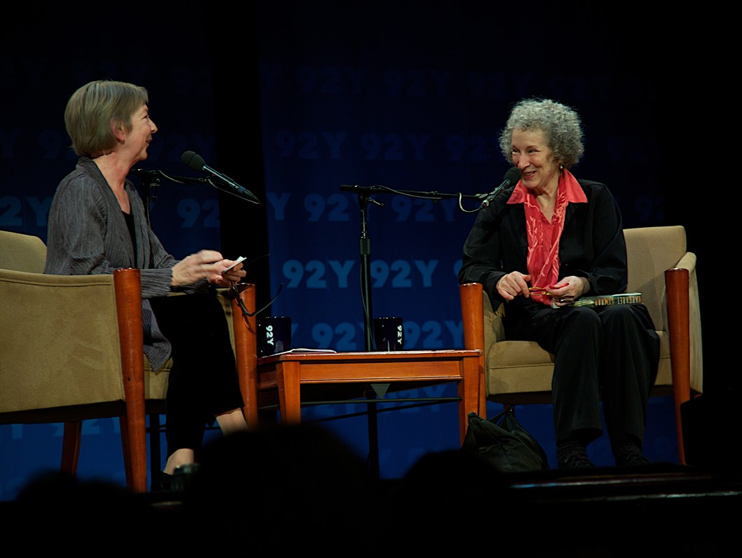 Valerie Martin and Margaret Atwood, photo by Nancy Crampton.