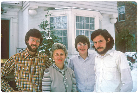 Jonathan Franzen and family, circa 1975. From the Paris Review.