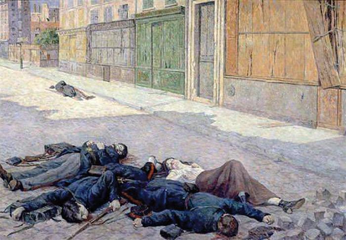 Maximilien Luce depicted his recollections of Bloody Week in A Paris Street in May 1871.