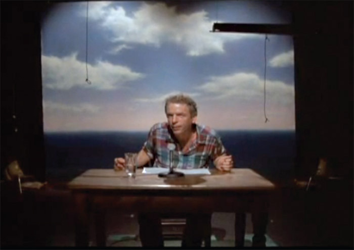 Scene from Spalding Gray's monologue Swimming to Cambodia.