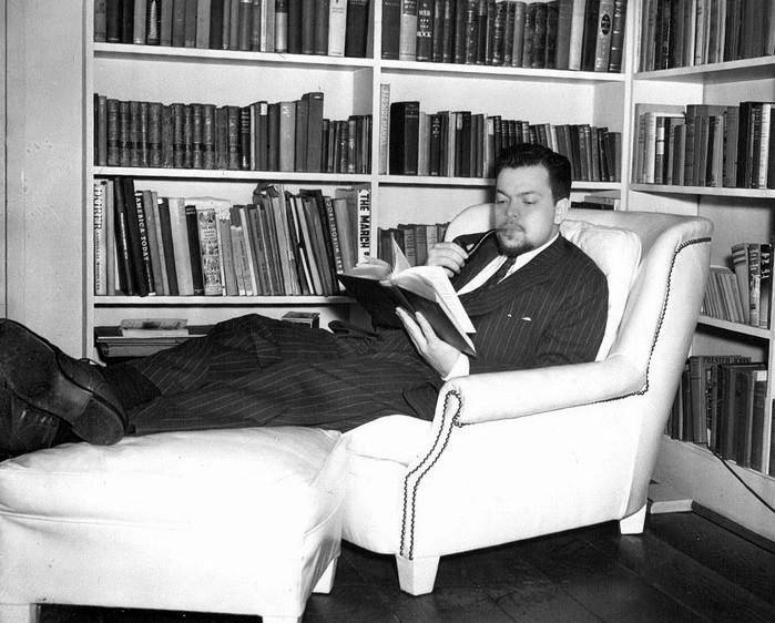 Orson Welles, man of letters.