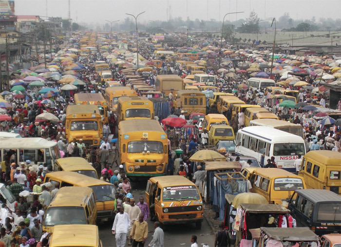 System D: A makeshift market in Lagos, Nigeria.