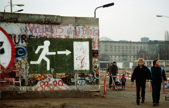 After the fall of the Berlin Wall, 1989.