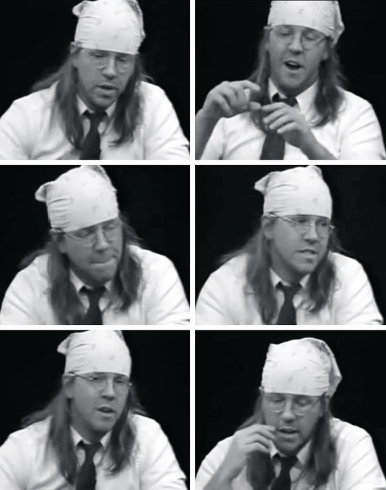 David Foster Wallace on Charlie Rose, 1997.