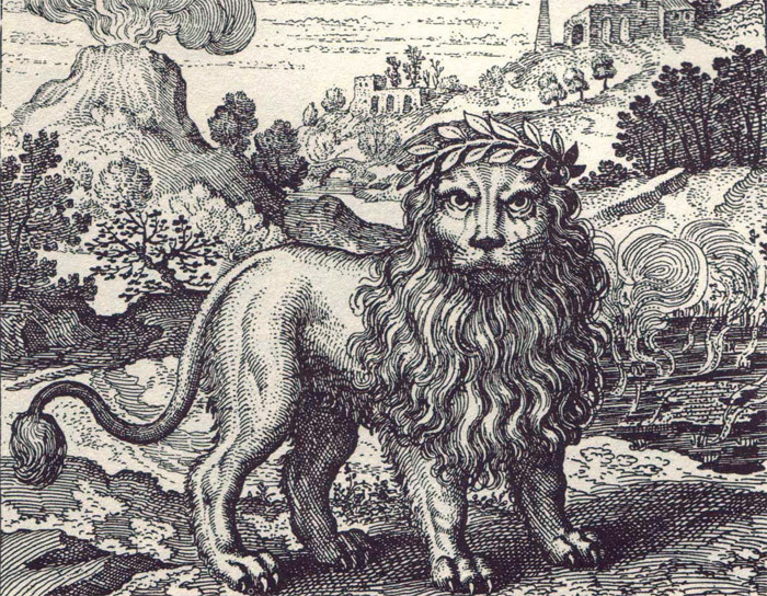 An emblem from Michael Maier's 1617 book Atalanta fugiens.