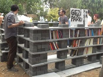 Library in Istanbul's Gezi Park