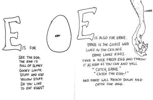 "The Letter ""e,"" from Shel Silverstein's ""Uncle Shelby's ABZ Book."""
