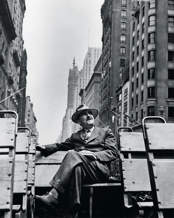 Stefan Zweig in New York City, ca. 1938.