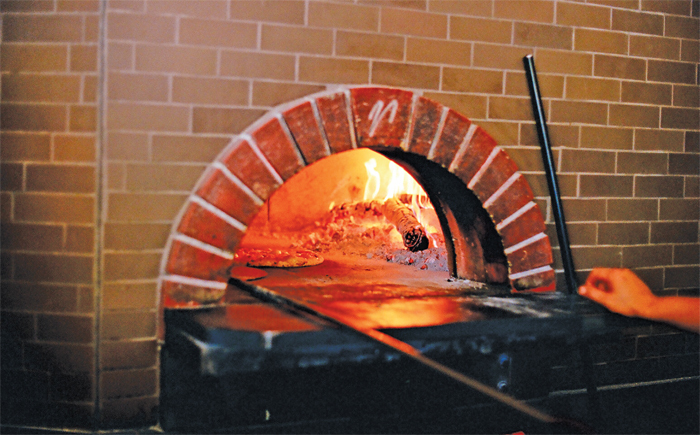 The pizza oven at Delancey restaurant in Seattle.