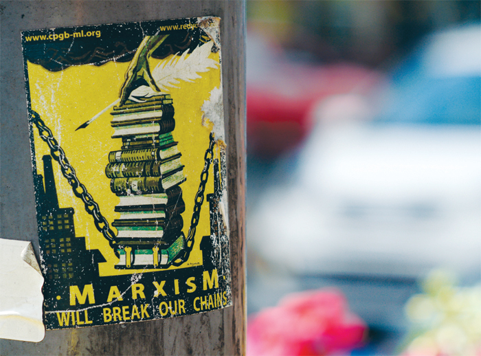 A Marxist poster in Birmingham, England, 2012.