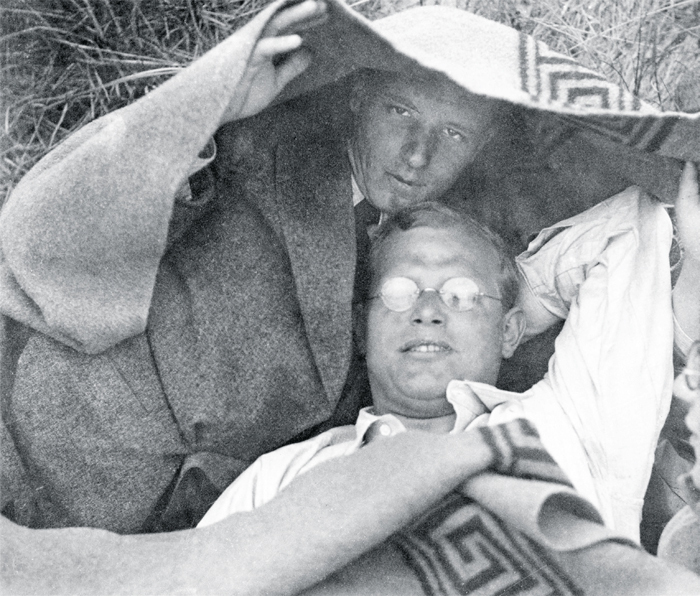 Dietrich Bonhoeffer (right) and a friend at the Baltic Sea, ca. 1932.