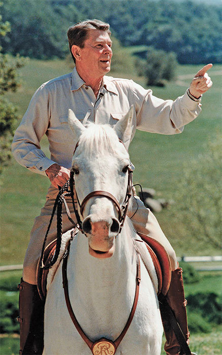 Ronald Reagan at his California ranch, 1986.
