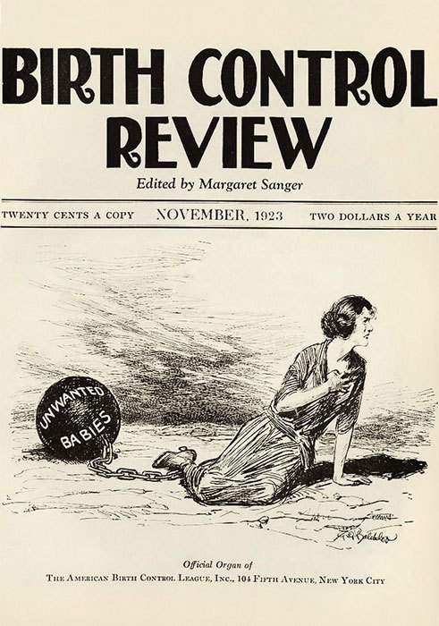 Cover of Margaret Sanger's Birth Control Review, November 1923.