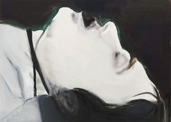 "Marlene Dumas, Stern, 2004, oil on canvas, 43 1/4 × 51 1/8""."