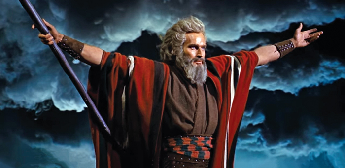 Charlton Heston as Moses in Cecil B. DeMille's The Ten Commandments, 1956.