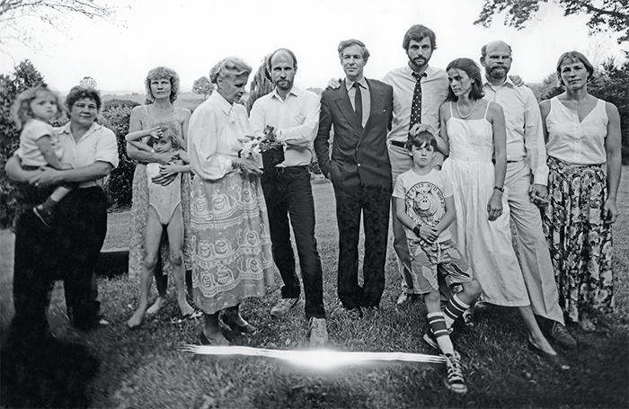 A family photograph taken by Sally Mann after her father's memorial service, 1988.