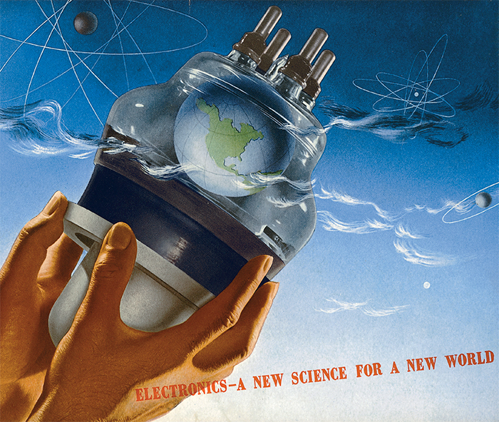 Herbert Bayer, The Earth Bulb, 1942. Cover of a General Electric promotional booklet.