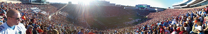 The Doak Campbell Stadium at Florida State University during a football game, 2012.