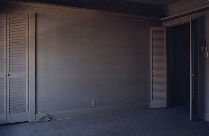 "Todd Hido, #1968 (detail), 1997, C-print, 20 × 24"". From the series ""Foreclosed Homes,"" 1996–97."