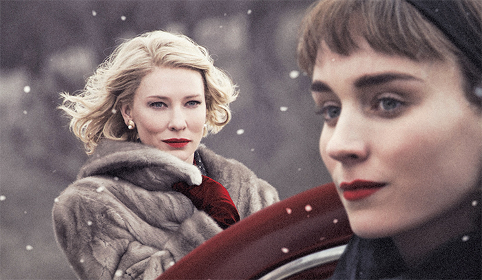 Todd Haynes, Carol, 2015, 35 mm, color, sound, 118 minutes. Carol Aird (Cate Blanchett) and Therese Belivet (Rooney Mara). The Weinstein Company.