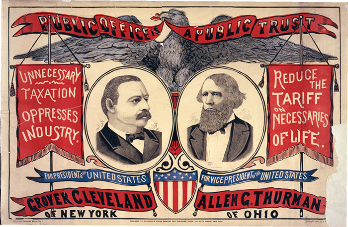 Grover Cleveland campaign poster, 1888. Library of Congress.