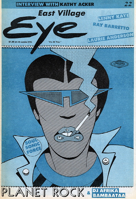 Cover of East Village Eye, June 1982.