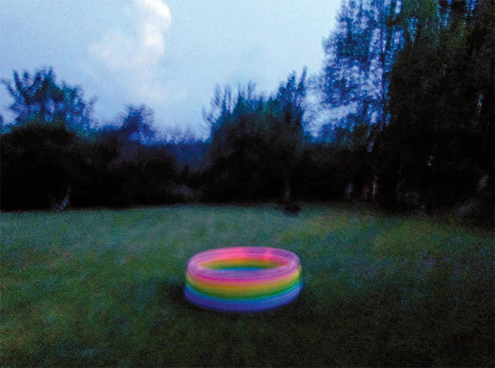 "Nan Goldin, Kid's rubber pool, Visteru, Sweden, 2010, Cibachrome, 30 × 40"".  © Nan Goldin."