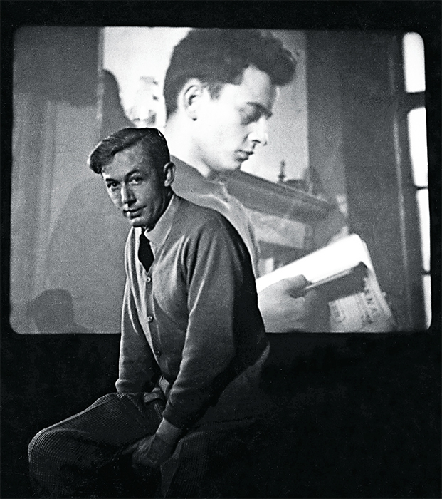 Robert Bresson at a screening of Diary of a Country Priest, ca. 1951. © Robert Doisneau/Rapho